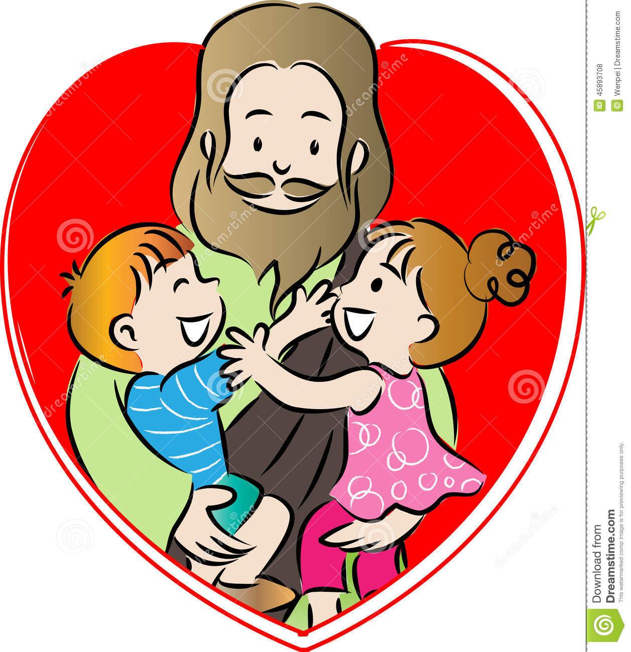 Jesus Con Niños Clipart.