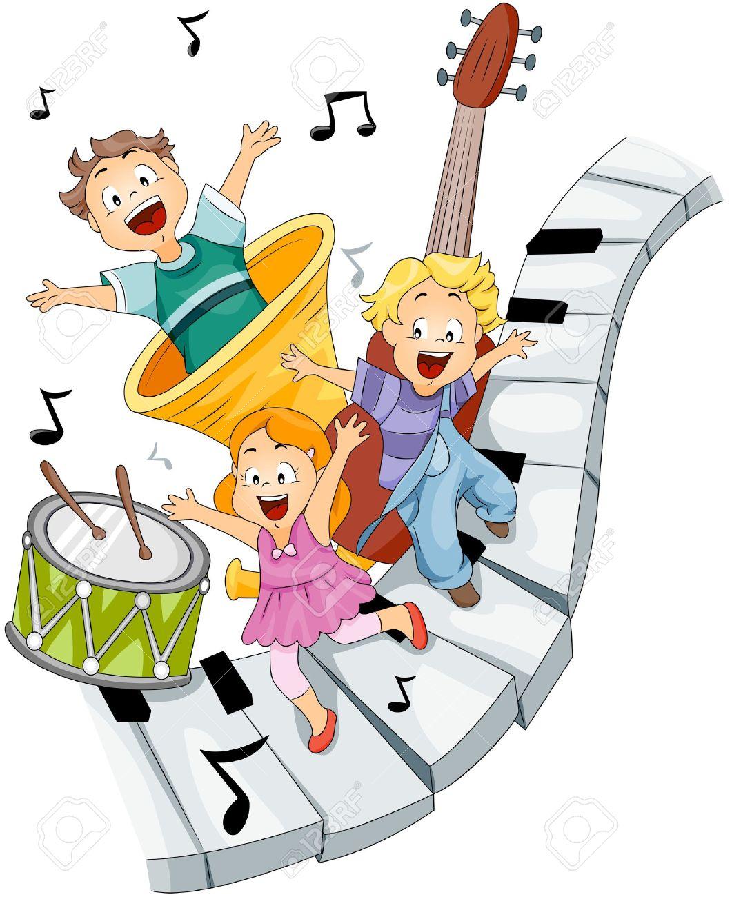 Bambini Con Strumenti Musicali Foto Royalty Free, Immagini.
