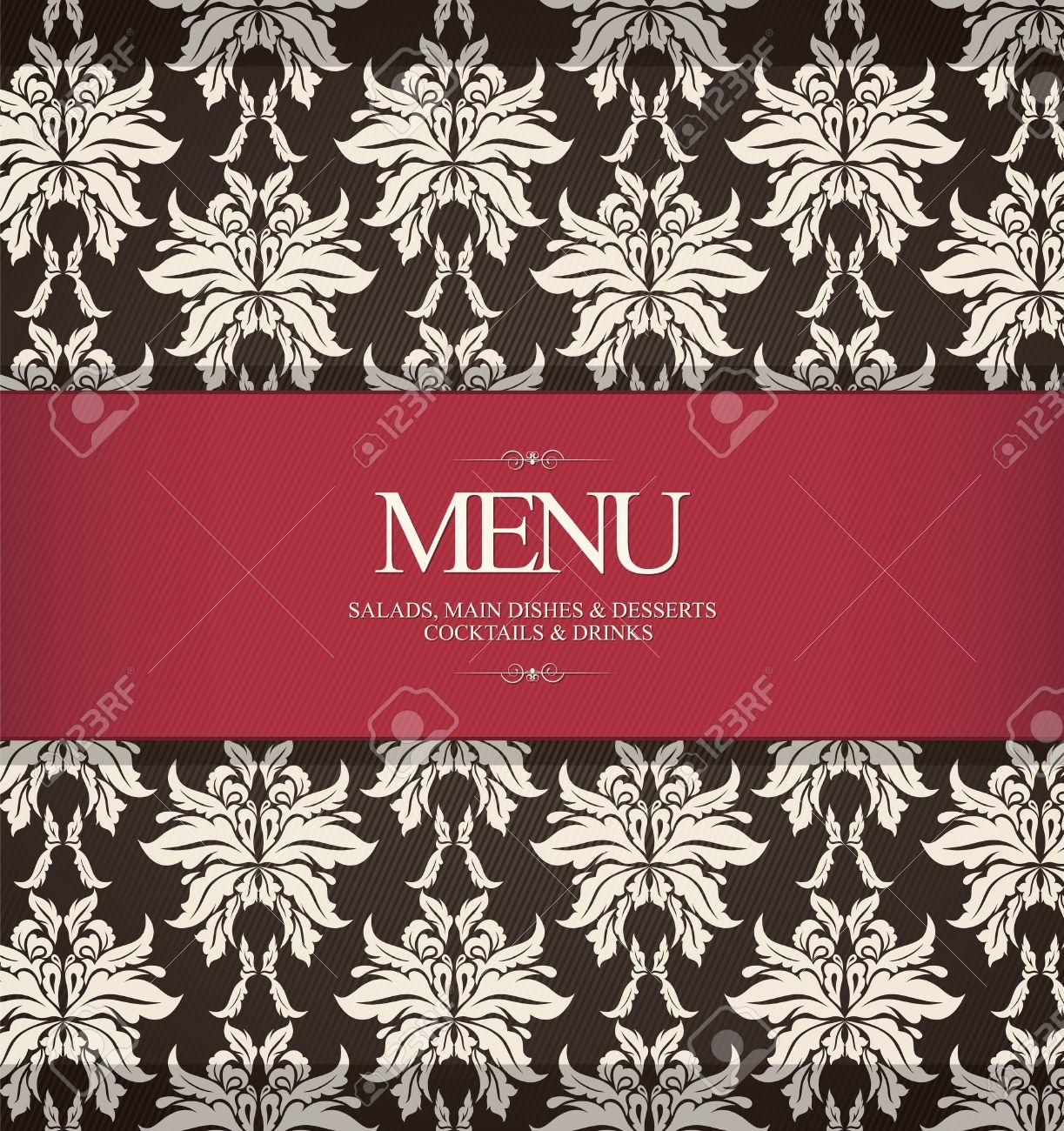 Restaurant Menu Di Progettazione, Con Sfondo Trasparente Clipart.