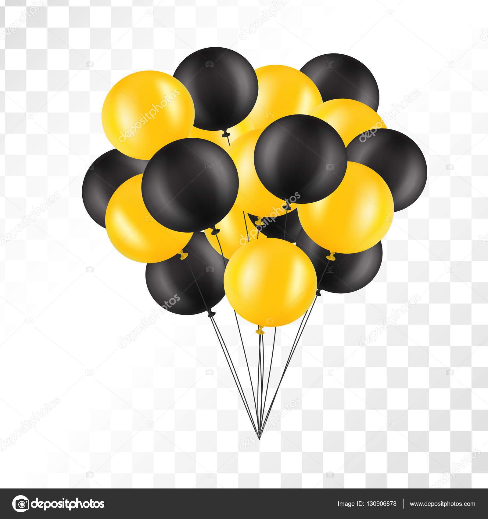 Palloncini su sfondo trasparente. Mazzo di aerostati isolato.