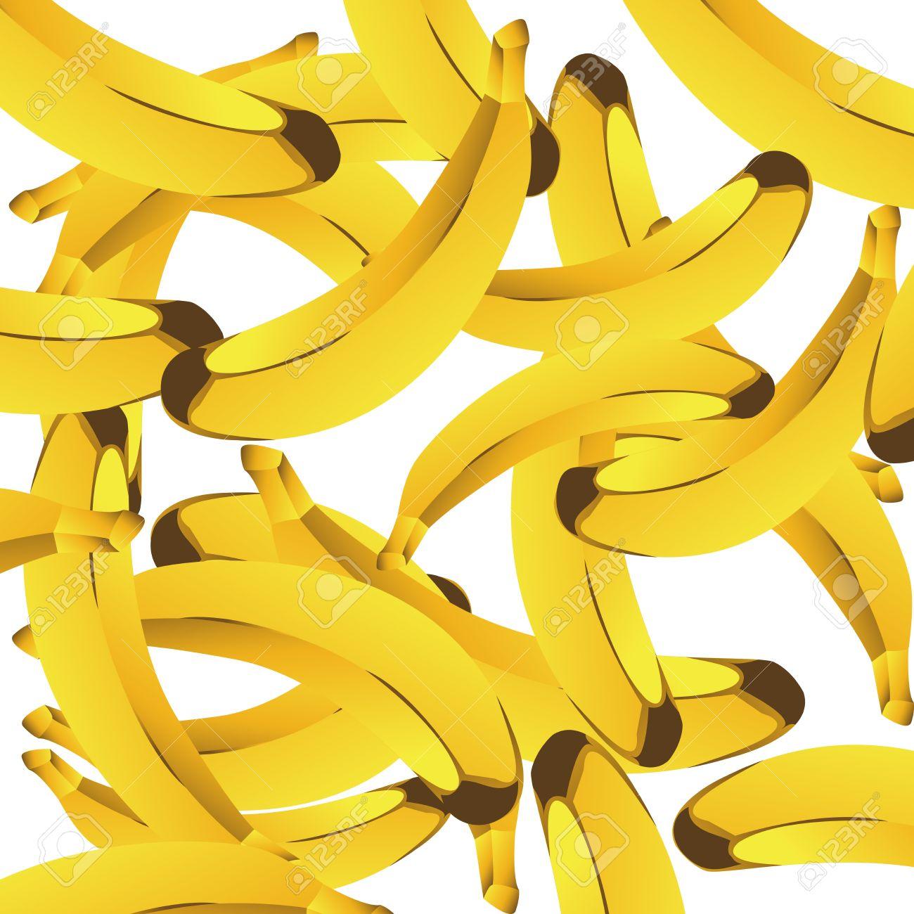Sfondo Trasparente Con Banane Foto Royalty Free, Immagini.