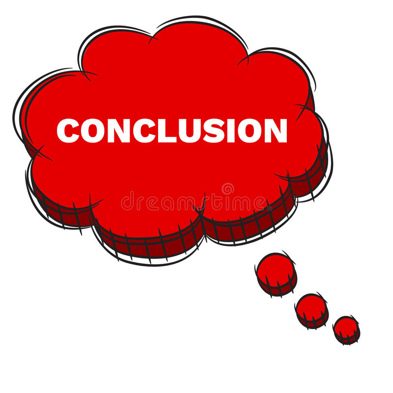 Text Conclusion Stock Illustrations.