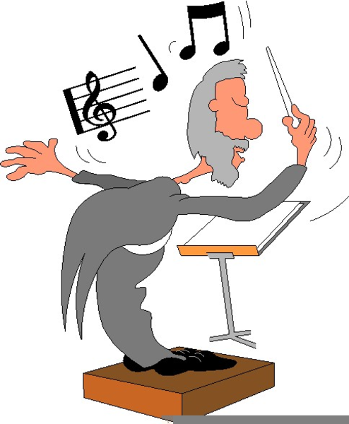 Free Orchestra Conductor Clipart.