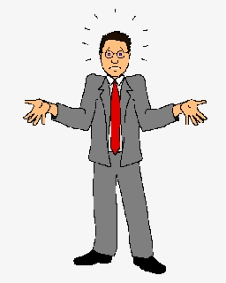 Free Confused Person Clip Art with No Background.