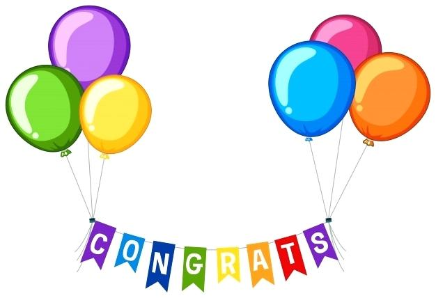 Clipart Congratulations Balloons Clip Art Background Design With.