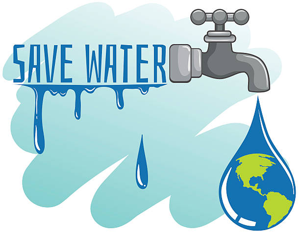 How To Conserve Water Clipart.
