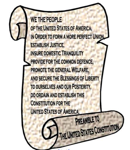 Constitution clipart preamble, Constitution preamble.