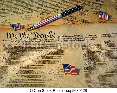 Pictures of A copy of the Constitution of the United States.