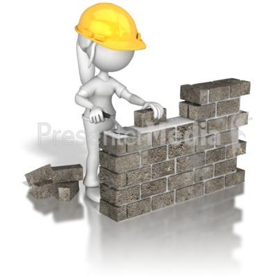 Brick clipart constructing building, Brick constructing.