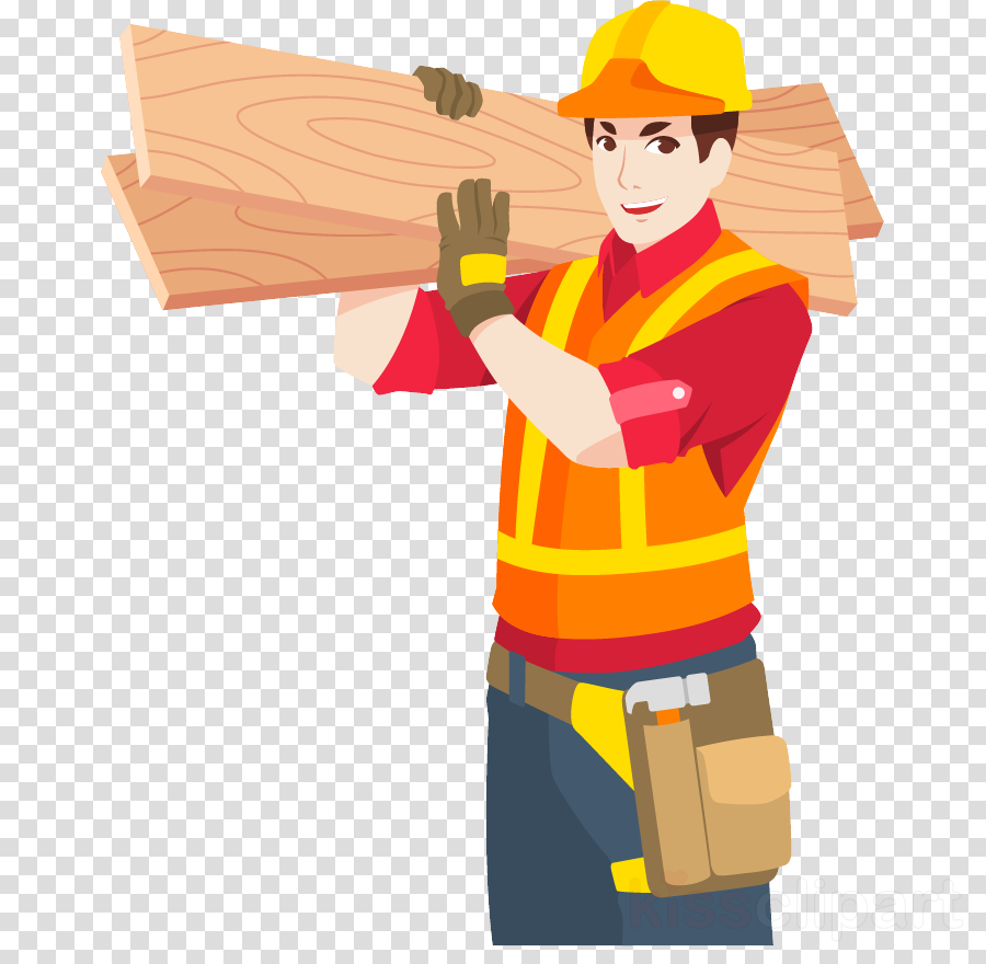 construction worker cartoon handyman clip art job clipart.