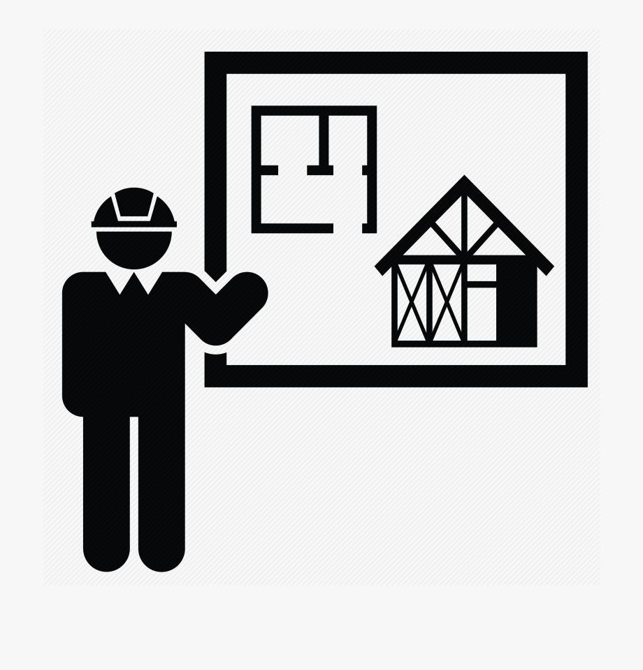 Engineer Clipart House Construction.