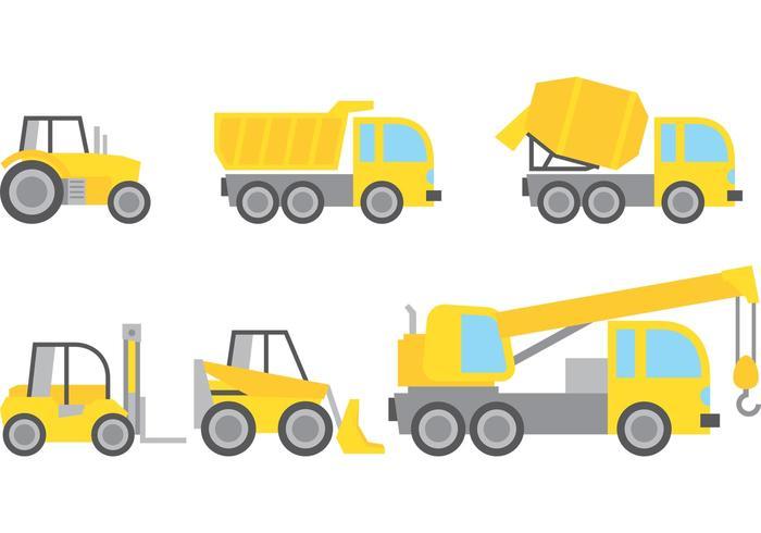 Construction Vehicles Vectors.