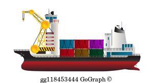 Cargo Ship Clip Art.