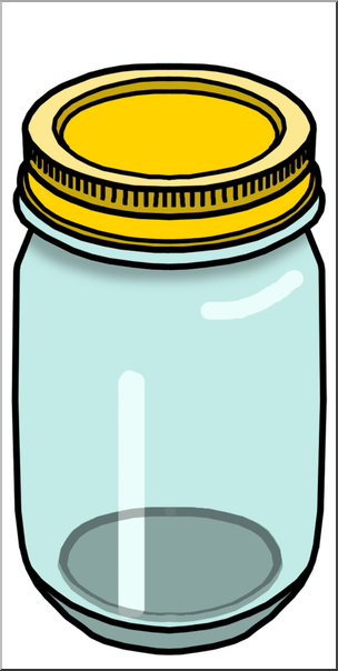 Clip Art: Food Containers: Jar Color I abcteach.com.