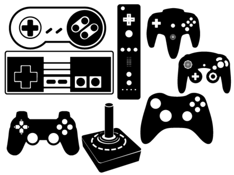 Game Controller Vector Set Clipart Picture Free Download.