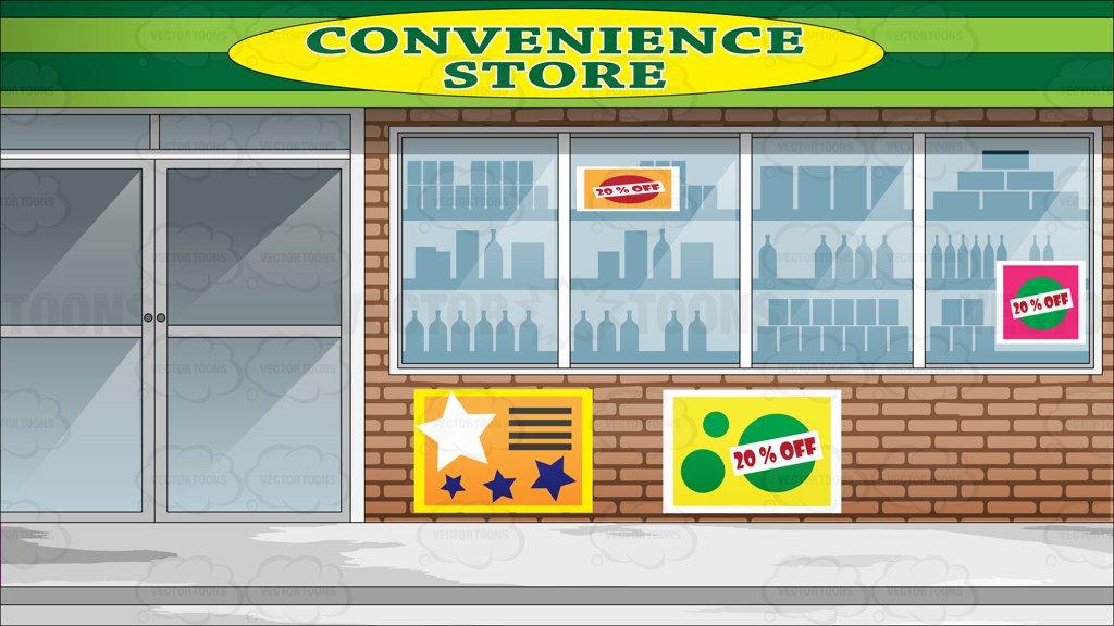 Convenience Store Clipart.