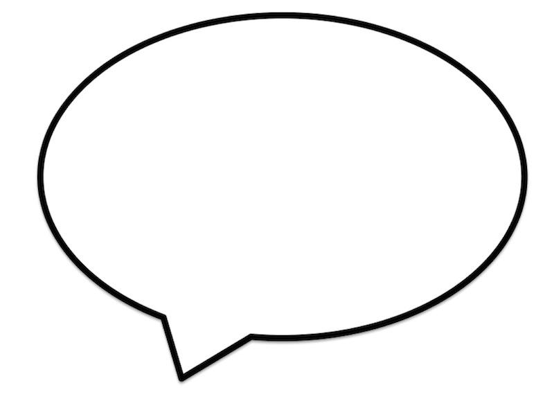 Free Printable Blank Speech Bubbles.