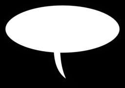 Word bubble speech bubble clipart image #21592.