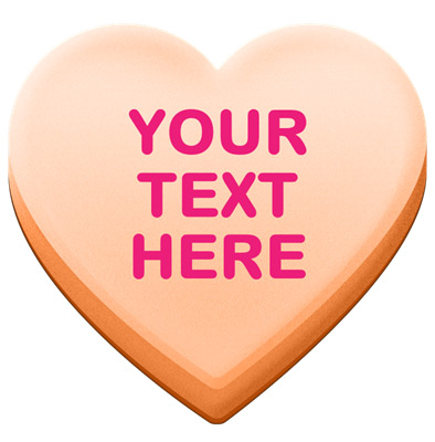 Candy hearts clipart 5 » Clipart Station.