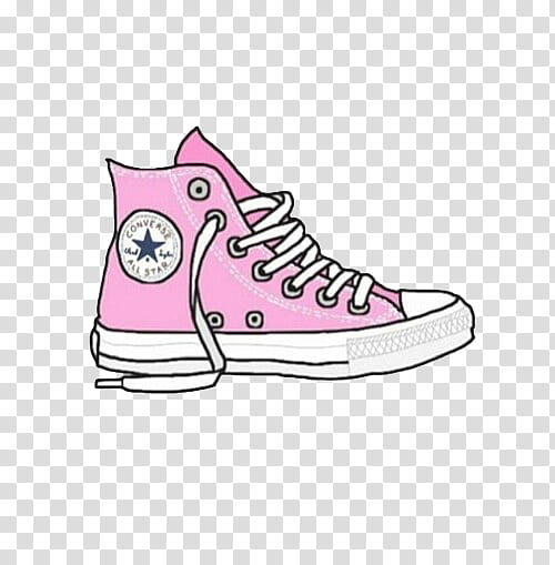 Overlays , pink and white Converse All.