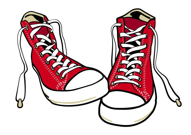 Converse Shoes Free Vector in 2019.
