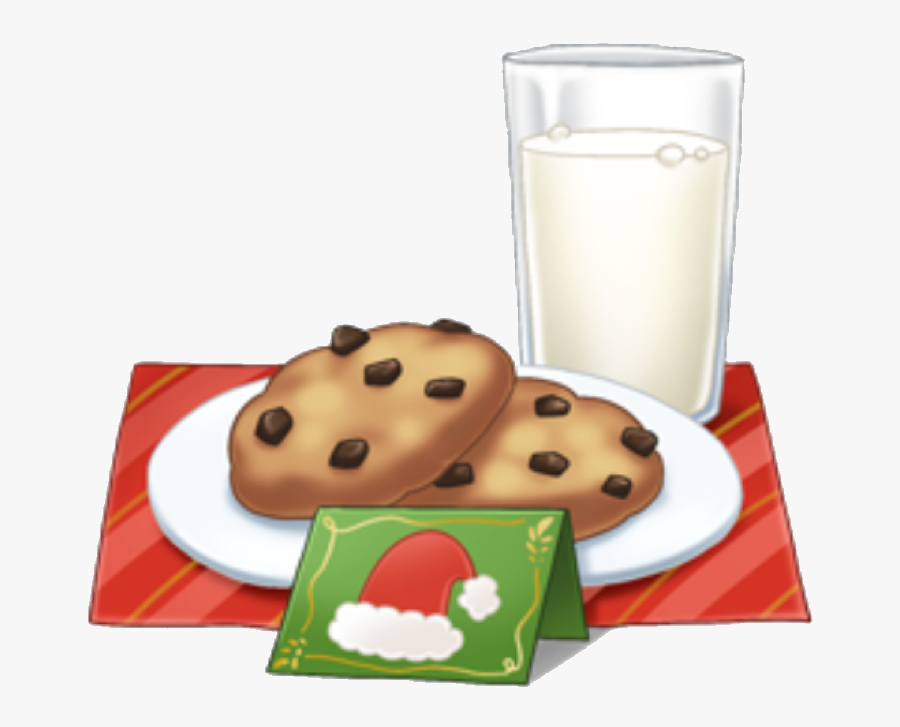 Transparent Milk And Cookies Clipart.