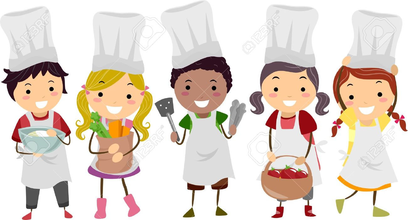 Cooking Class For Kids Clipart.