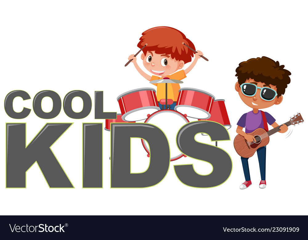 Cool kids icon on white background.