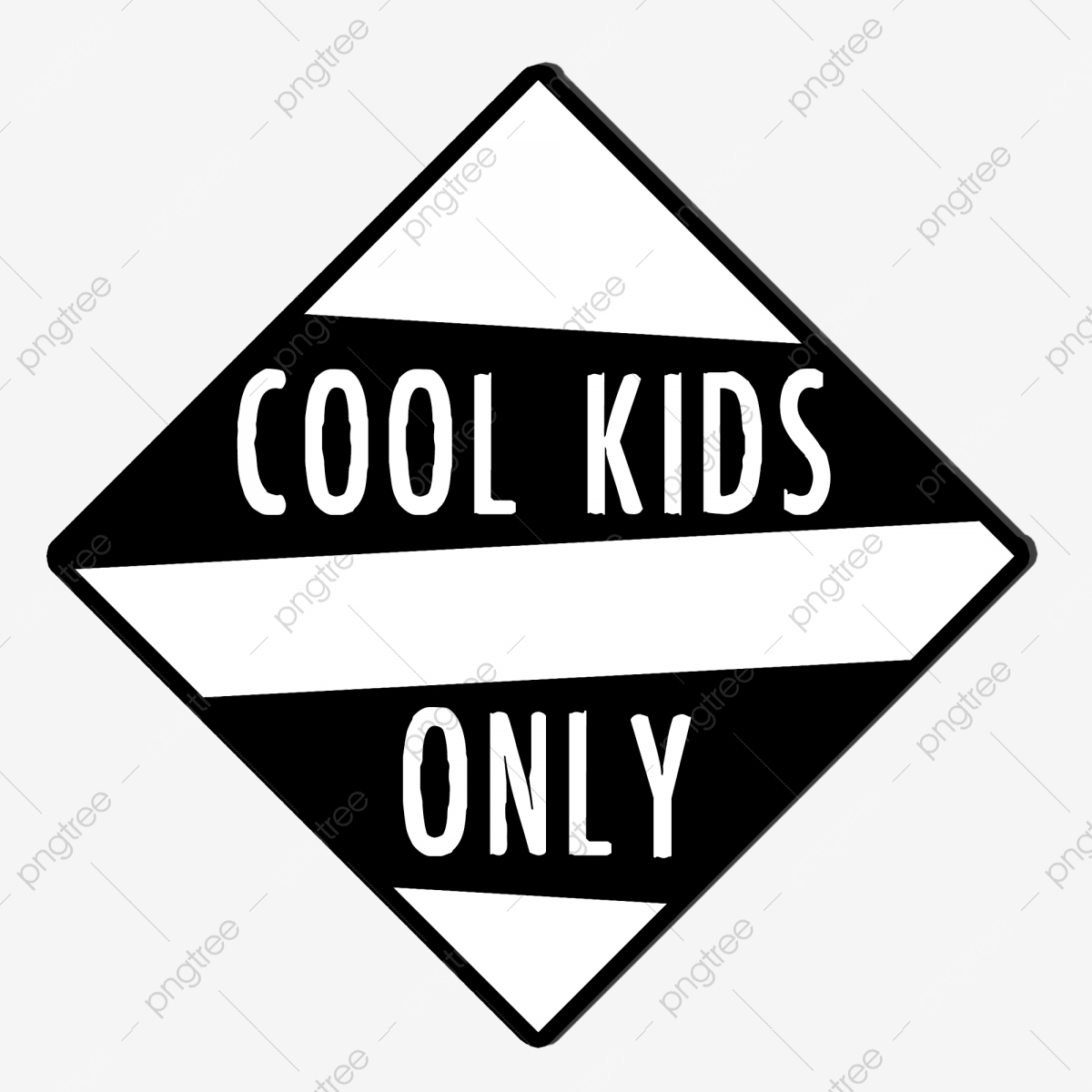 Cool Kids Only, Cool, Only, Graphic PNG Transparent Clipart Image.