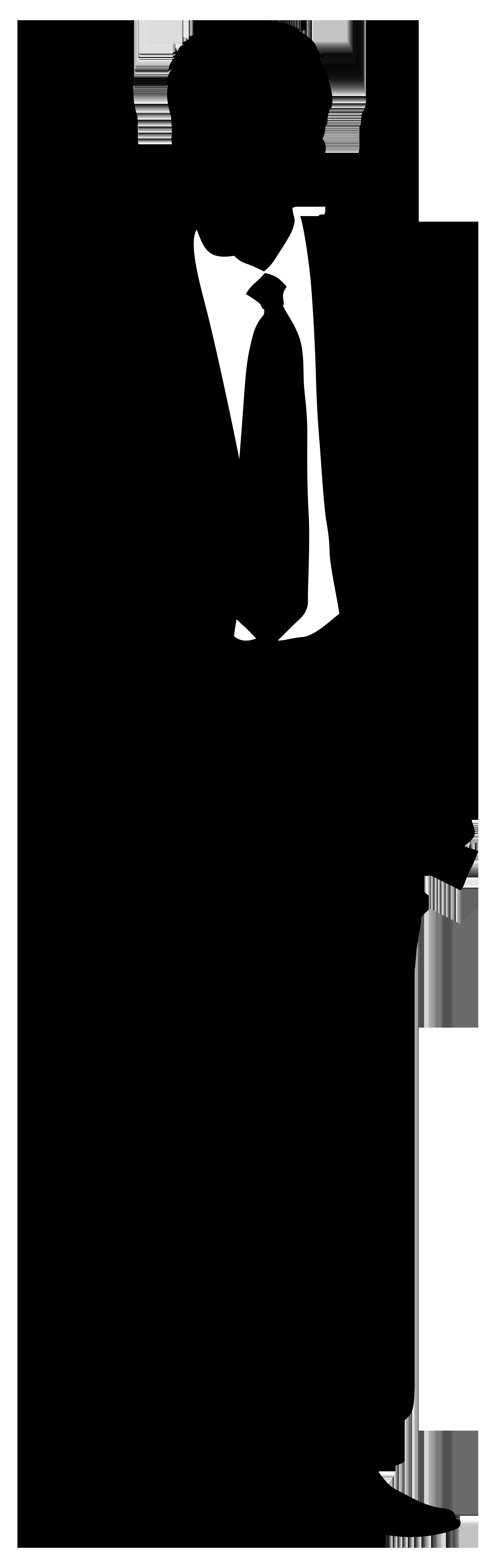 Businessman Silhouette PNG Clip Art Image.