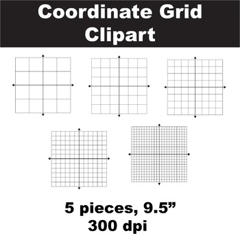 Blank Coordinate Grid Clipart.