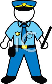 police person uniform cartoon.