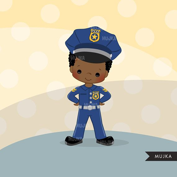 Cops, police officer clipart, Little boy clipart graphics.