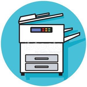 copy machine icon Clipart Image.