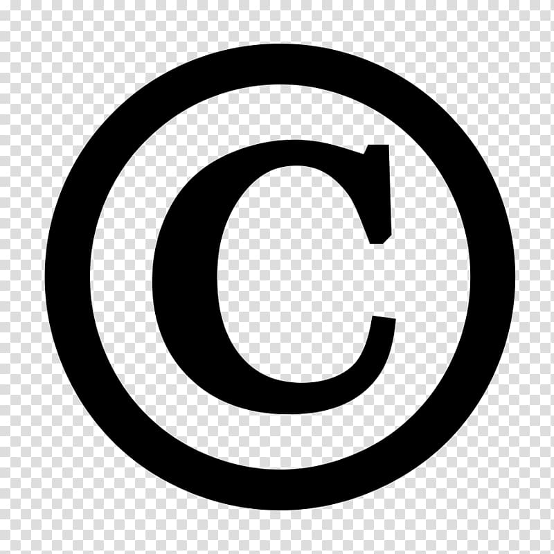 All rights reserved Copyright symbol Creative Commons.
