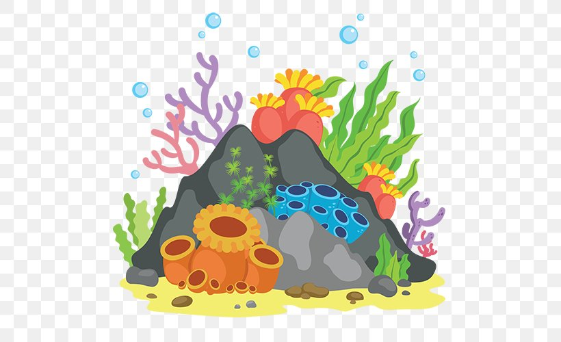 Great Barrier Reef Coral Reef Clip Art, PNG, 500x500px.