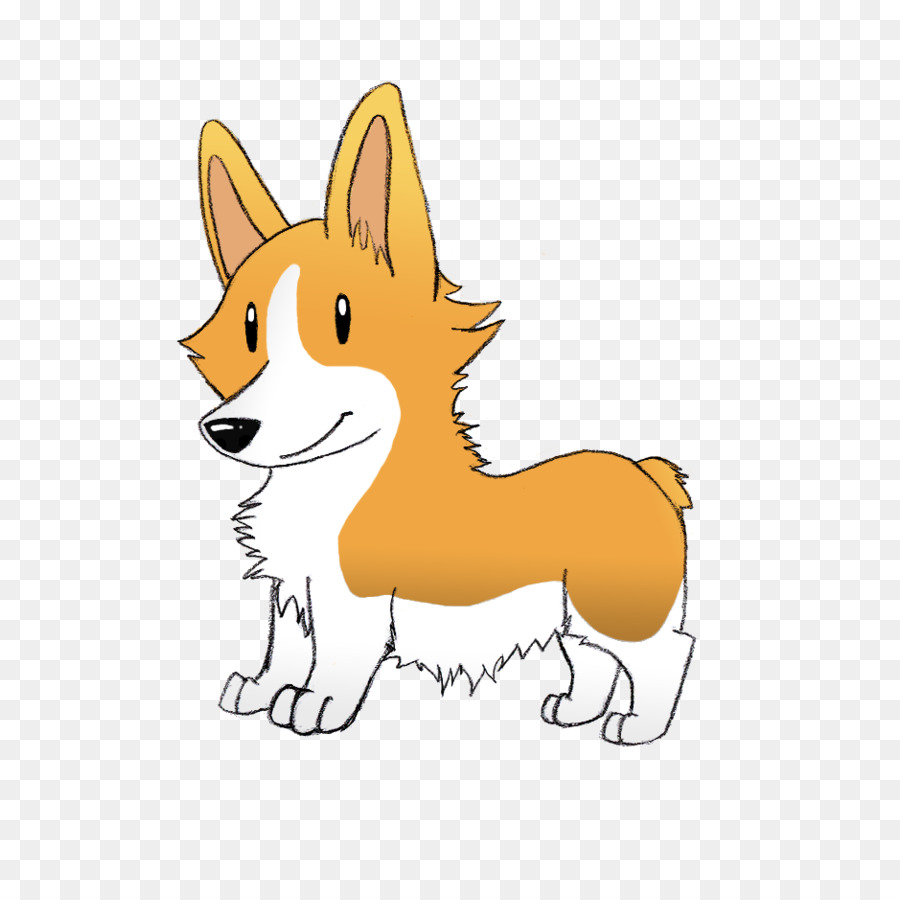 Corgi Cartoon clipart.