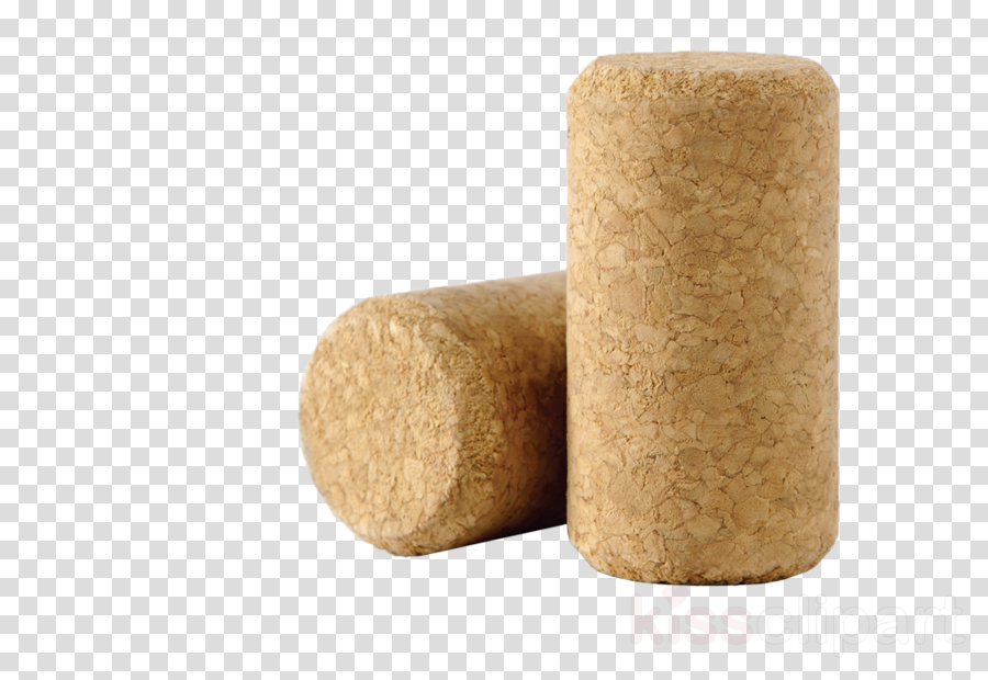beige cork cylinder wood table clipart.
