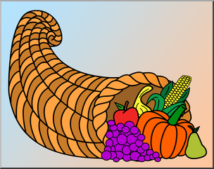 Clip Art: Cornucopia Color I abcteach.com.