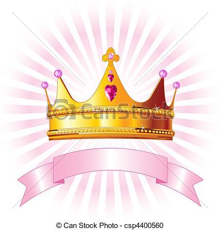 Clipart vettoriali di corona, principessa, Scheda.