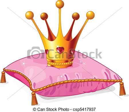 Illustrazioni vettoriali di rosa, corona, cuscino, principessa.