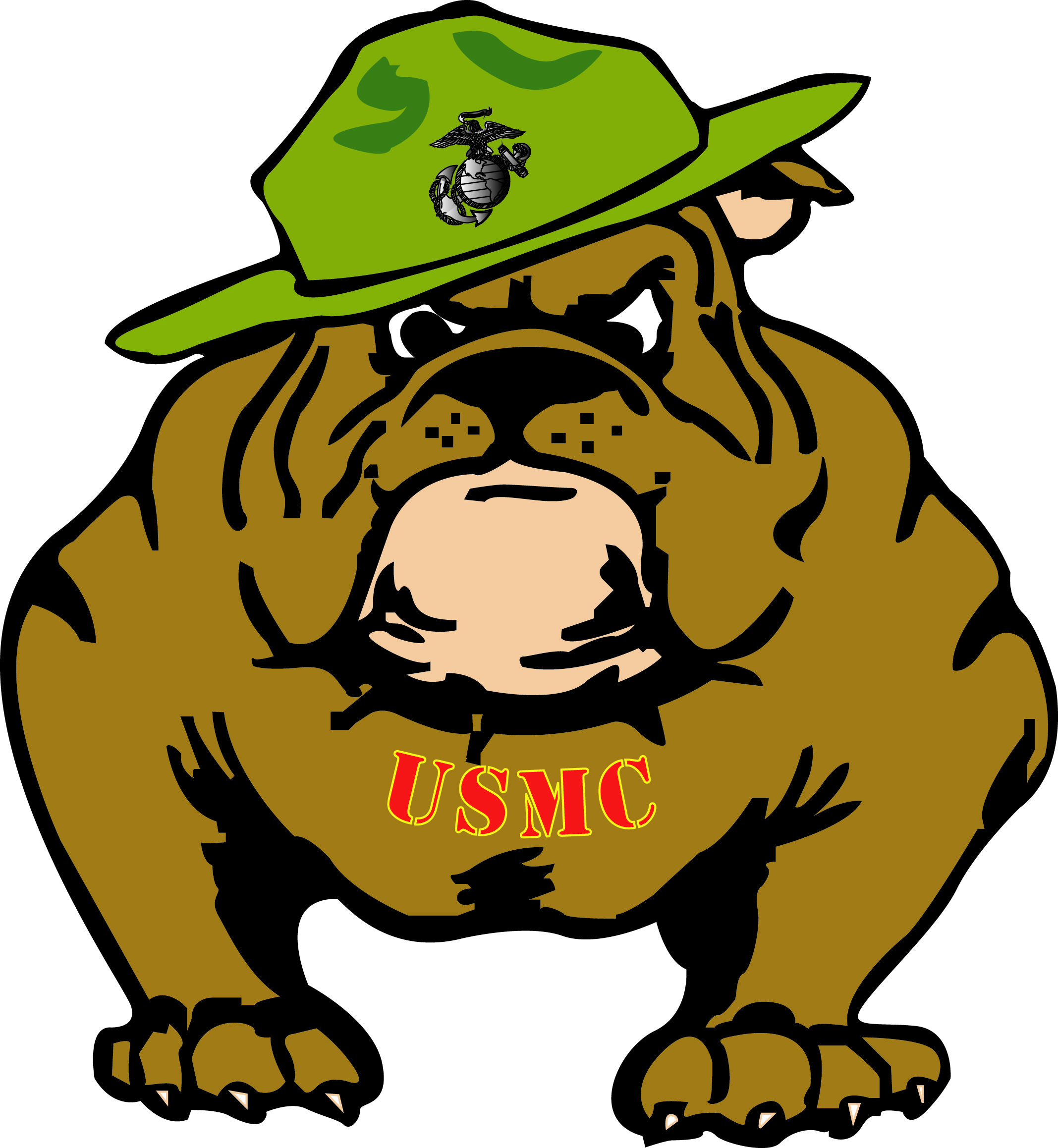 Image result for usmc bulldog clipart.