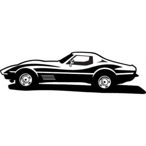 Corvette Clipart Black.