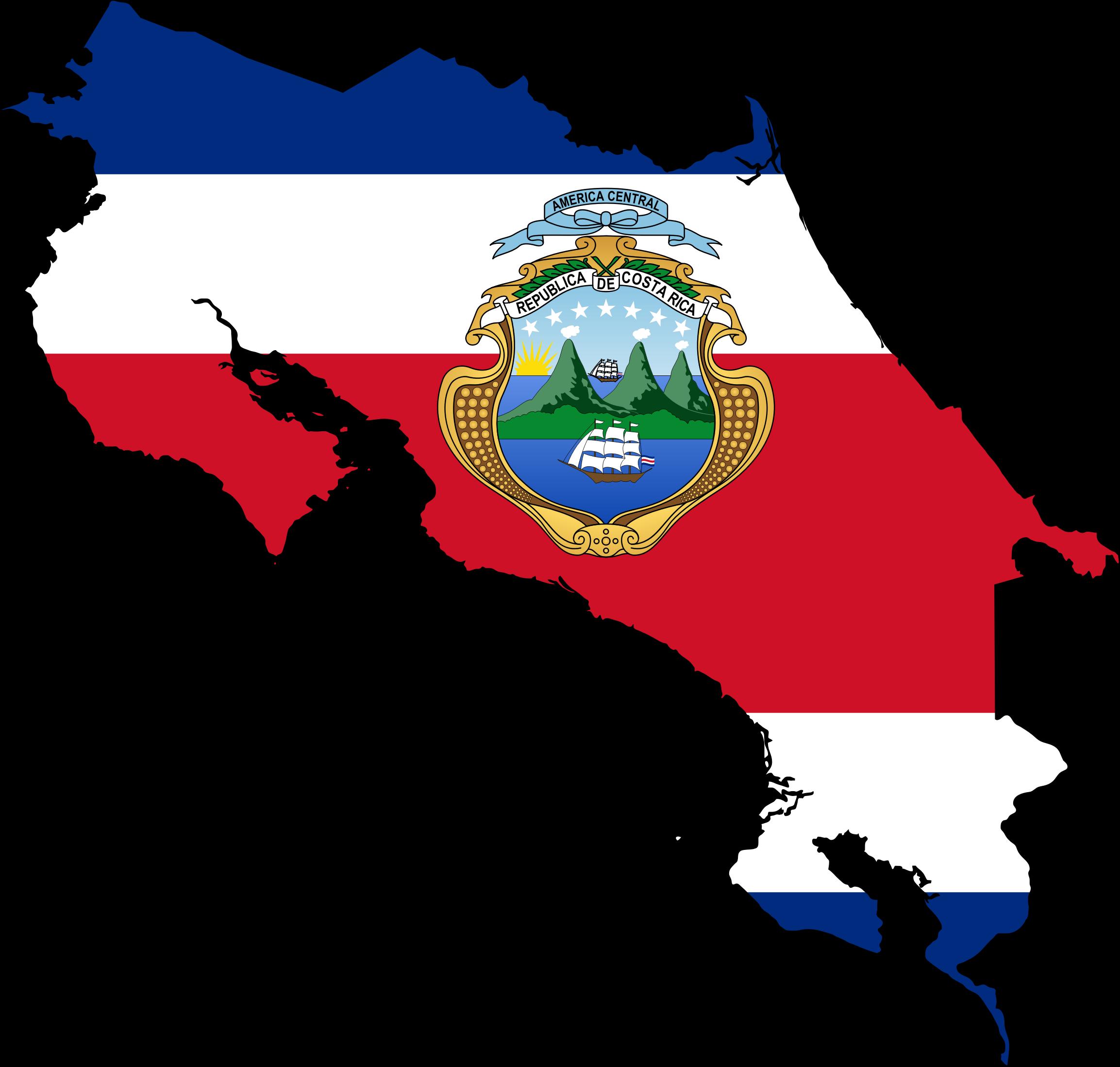 Costa Rica Flag Clipart.