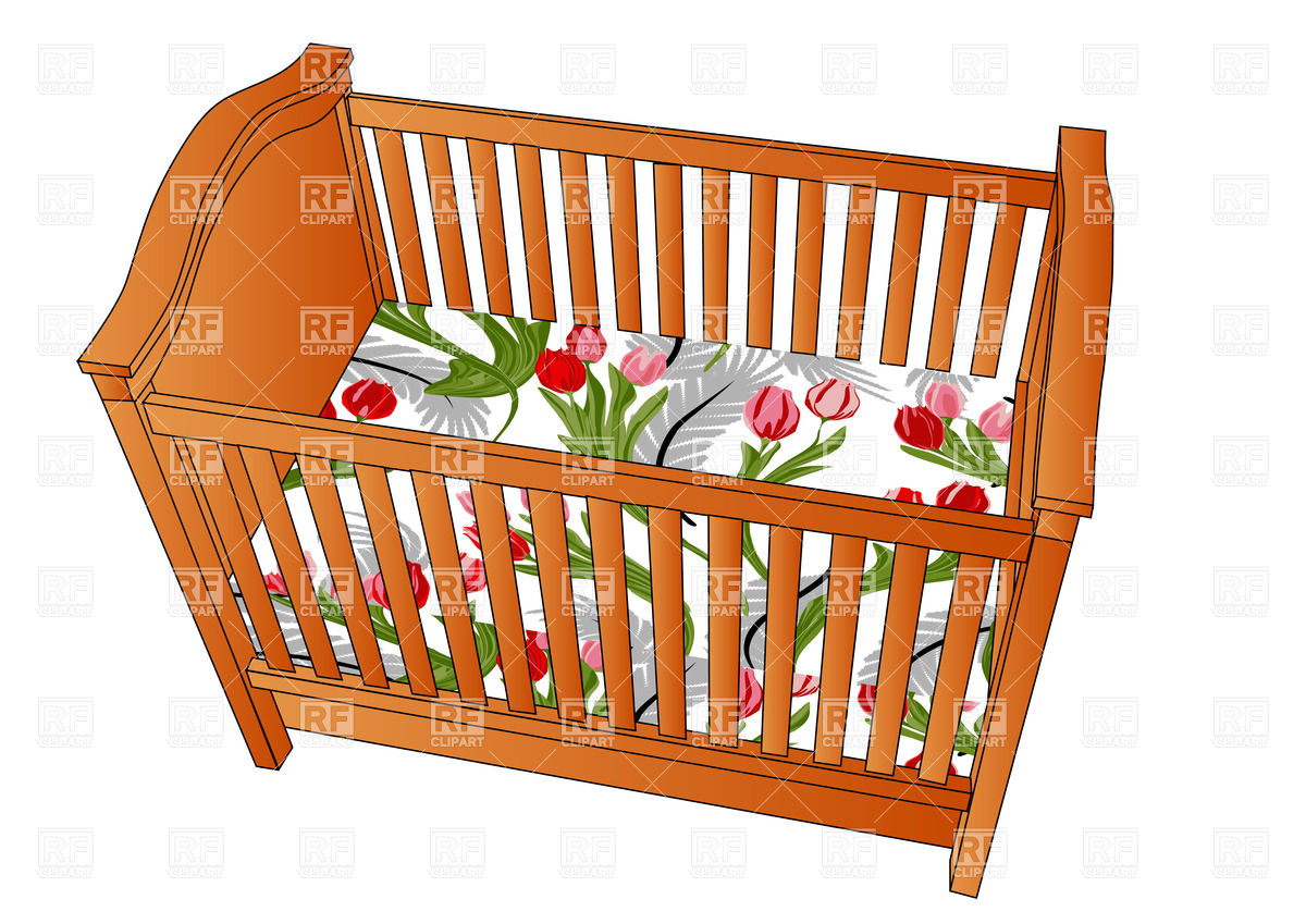 Crib top view Stock Vector Image.