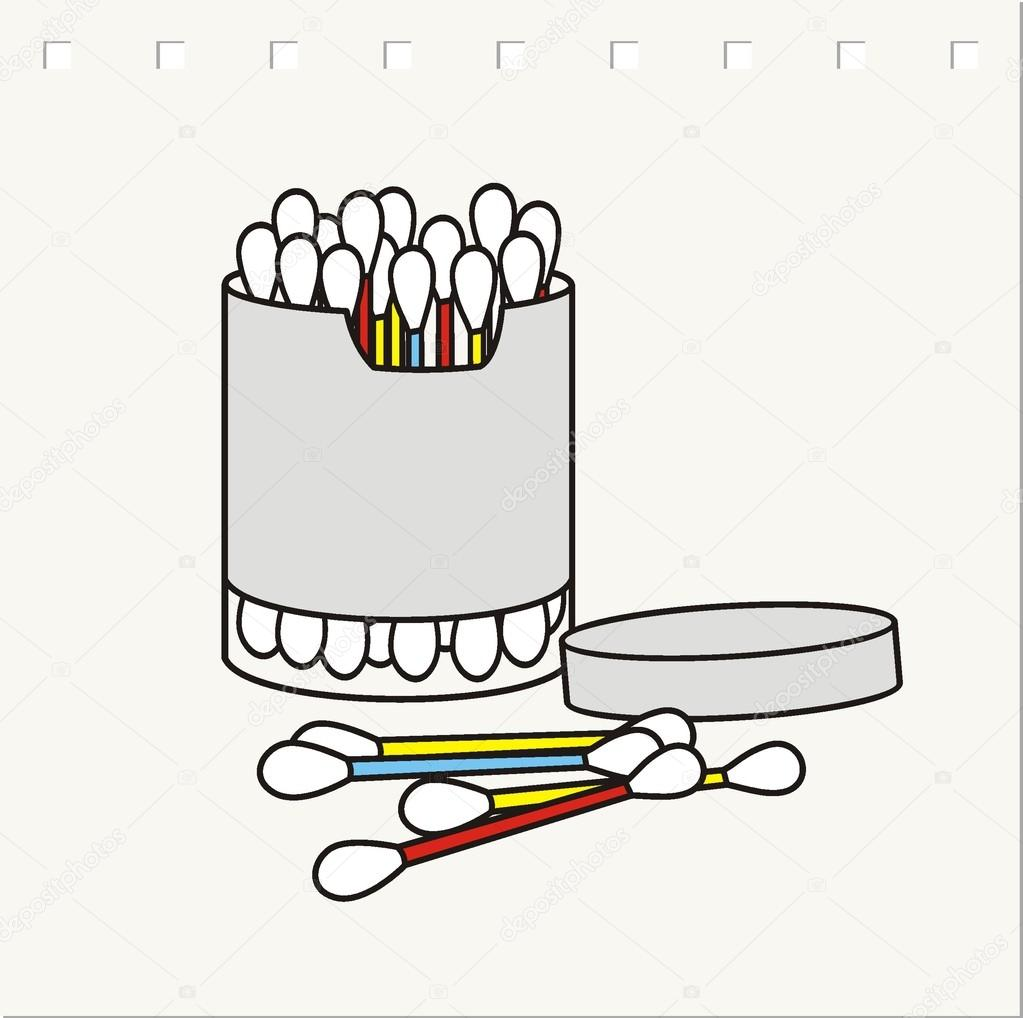 Hygiene cotton buds — Stock Vector © halimqd #43333397.