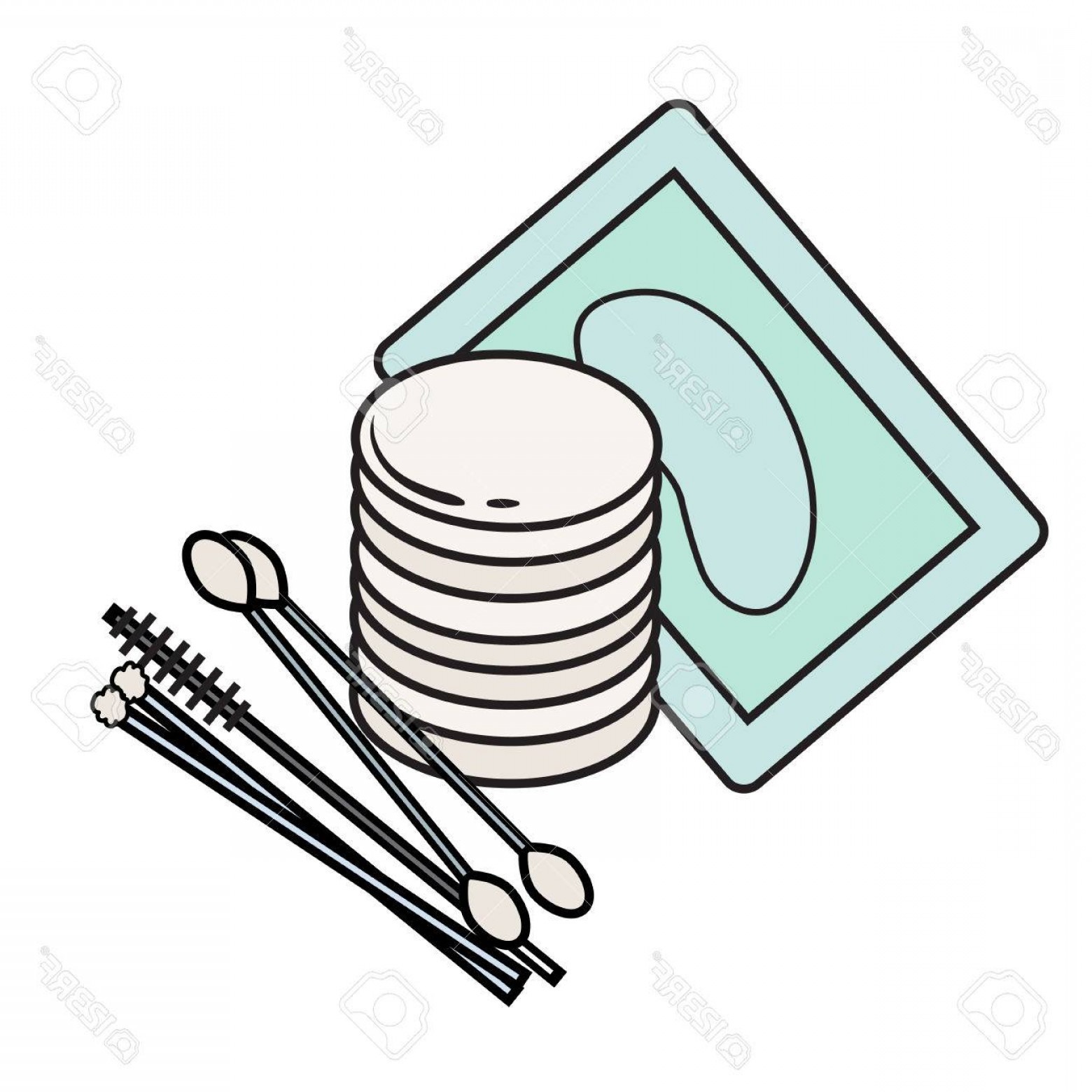 Photostock Vector Hygiene Icon Vector Picture Lash Extensions.