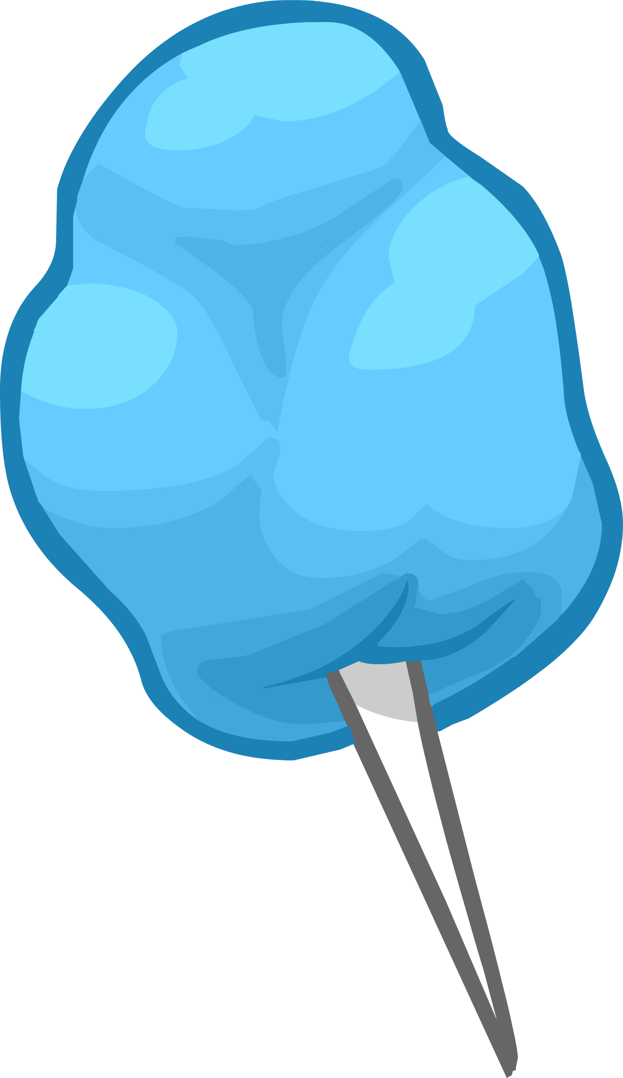 Blue Cotton Candy Clipart transparent PNG.