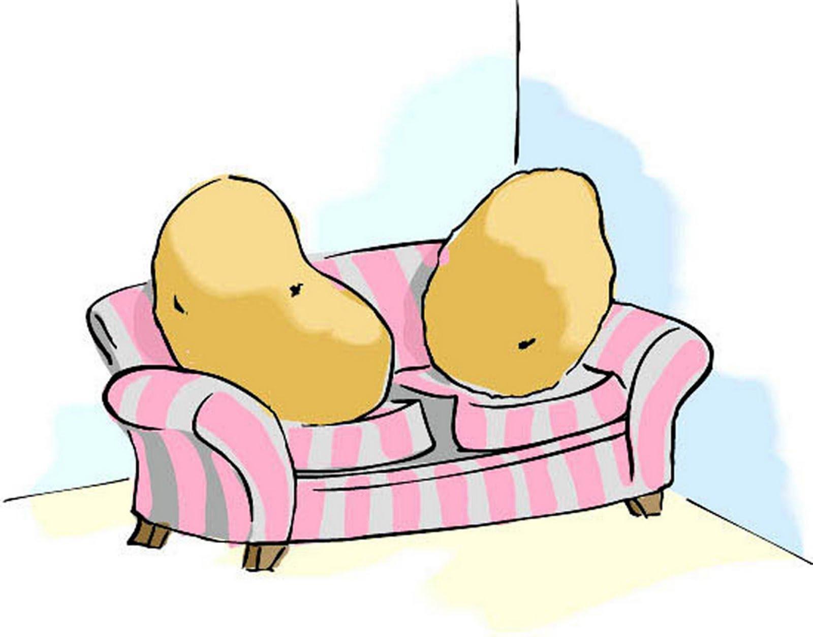 Couch Potato Clipart.