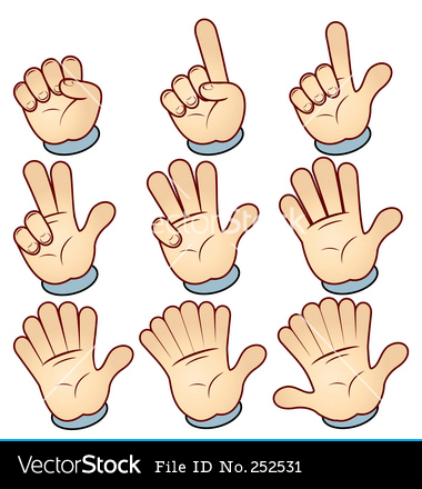 Free Counting Fingers Clipart.